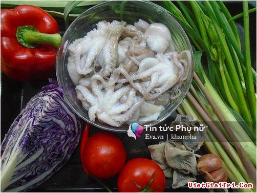 Món đặc biệt bạch tuộc xào cho cà nhà ngây ngất