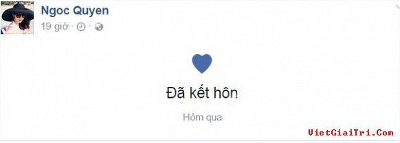 Ngọc Quyên update lại trạng thái kết hôn với chồng Việt kiều Mỹ
