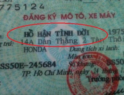 Chết cười với những cái tên của người Việt Nam