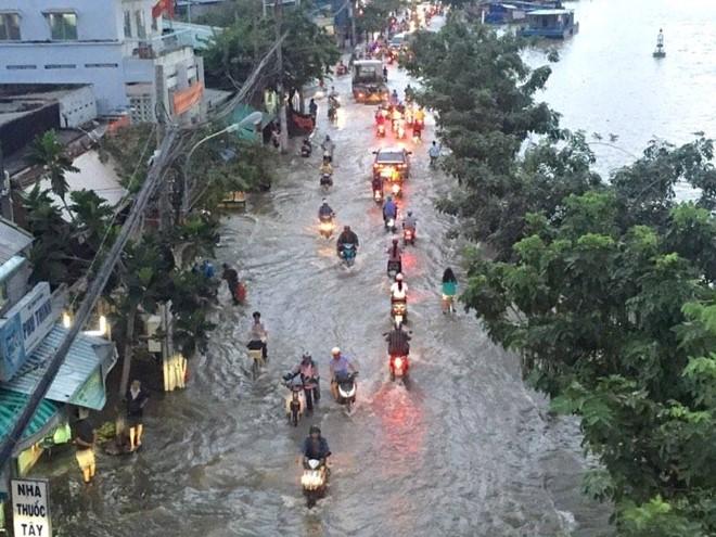 TPHCM phố cũng như sông hứng chịu cơn thịnh nộ của vua thủy tề