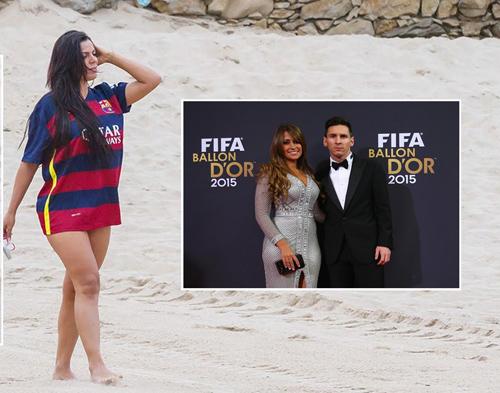 Messi bị người yêu thuê người đánh tơi tả vì tội lăng nhăng với người mẫu ngực khủng.
