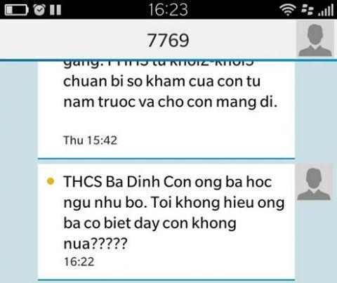 Phụ huynh tá hỏa khi nhà trường gửi tin nhắn xúc phạm con ngu như bò