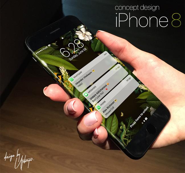 Hình ảnh mới nhất về iPhone 8 - màn hình cong đẹp không góc chết