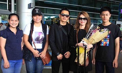 Thanh Thảo cùng bạn trai 'doanh nhân' mới về Việt Nam