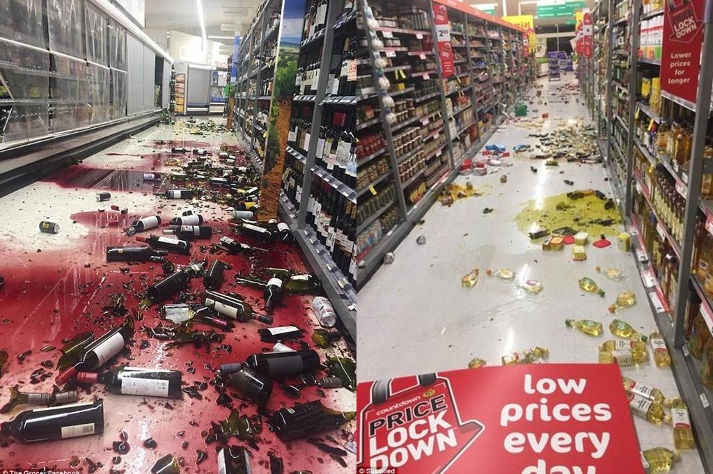 Hình ảnh động đất New Zealand làm hư hại nhà cửa và đồ đạc